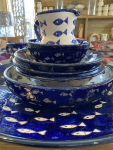 Hand Painted Fish Dishes
