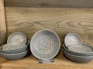 Grey & White Bowls